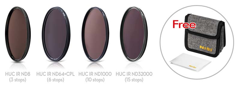 Circular LONG EXPOSURE Filter Kit include