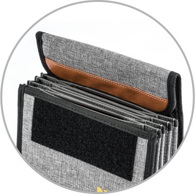 Flip top designed to keep the pouch open