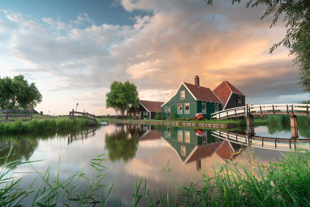 Zaanse Schans Taken in Holland With NiSi Landscape polarizer, ND (10 Stops), GND (3 Stops)