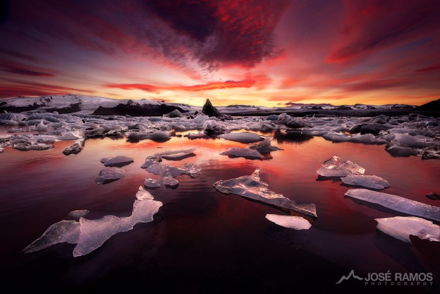 Dissolution of Eternity Taken in Jokulsarlon, Iceland With NiSi Soft GND (4 Stops)