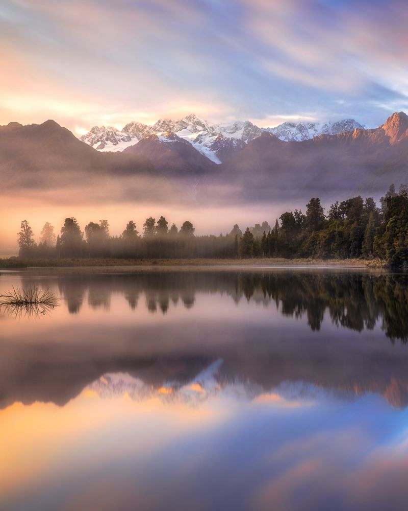 Lake Matheson Taken in New Zealand With NiSi V6 + ND (6 Stops)