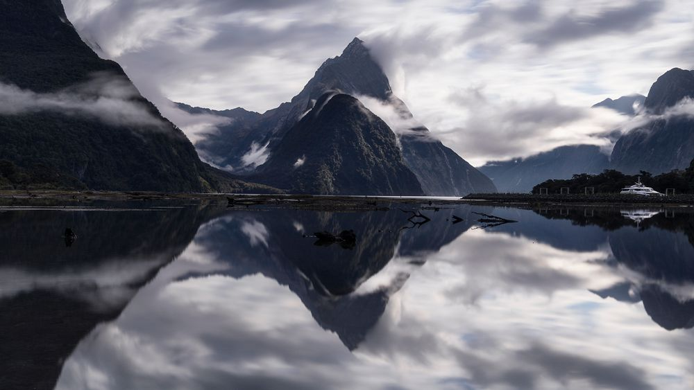 Mitre Peak Taken in Milford Sound, Fiordland, New Zealand With NiSi S5 holder, ND (10 Stops), Soft GND (3 Stops)